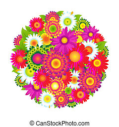 colorare, fiori