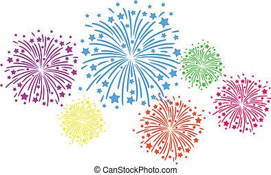 colorare, firework