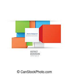 colorare, fondo., astratto, quadrato, vettore