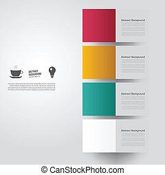 colorare, fondo., astratto, vettore, quadrato