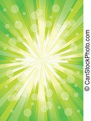 colorare, forma astratta, vettore, verde, design.