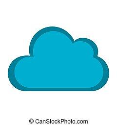 colorare, forma, silhouette, nuvola