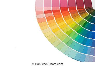colorare, guida, fondo, isolato, selezione, bianco
