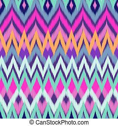 colorare, ikat, zigzag, fresco