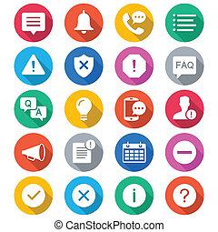 colorare, informazioni, notificazione, appartamento, icone