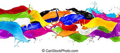 colorare, largo, astratto, schizzi