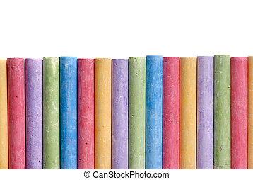colorare, linea, pastelli, organizzato, isolato