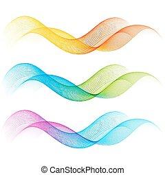 colorare, linee, set, curva