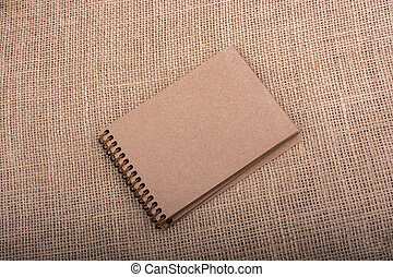 colorare, lino, marrone, tela, quaderno