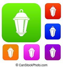 colorare, luce, strada, set, collezione