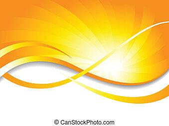 colorare, luminoso, vettore, fondo, giallo