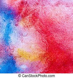 colorare, macro, struttura, colpi, spazzola, acquarellature