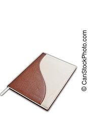 colorare, marrone, bianco, quaderno, fondo