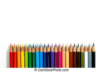 colorare, matite, 2, -