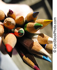 colorare, matite, 2