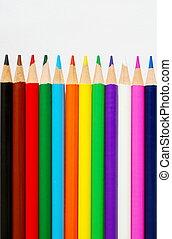 colorare, matite, bianco, carta