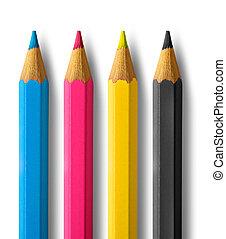 colorare, matite, cmyk