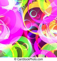 colorare, modello, cerchio, retro, ardendo