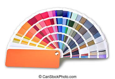 colorare, modello, ral, cmyk, libro, ventilatore