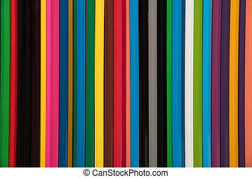 colorare, molti, fondo, matite