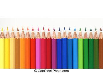 colorare, molti, matita