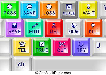 colorare, multi, tastiera
