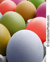 colorare, multi, uova