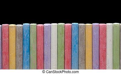 colorare, pastelli, linea