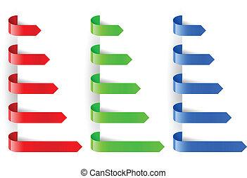 colorare, pennarello, carta, frecce
