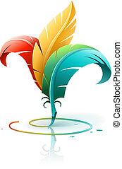 colorare, penne, concetto, arte, creativo