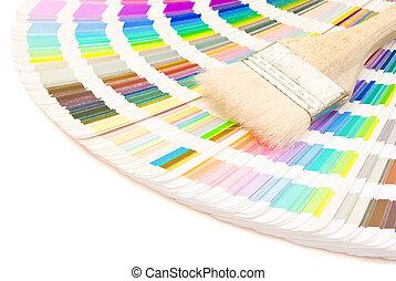 colorare, percorso, ritaglio, spazzola, guida