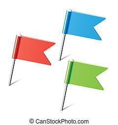 colorare, piolini, bandiera, set