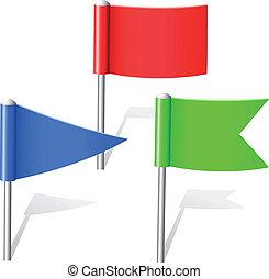 colorare, piolini, bandiera