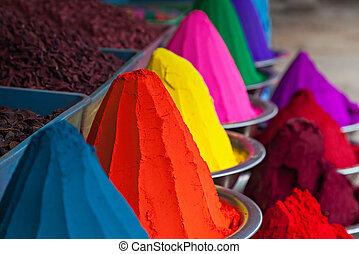 colorare, polvere