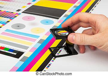 colorare, prepress, amministrazione, stampa, produzione