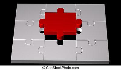 colorare, puzzle