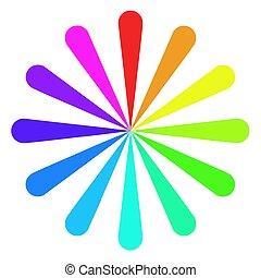 colorare, ruota, ventilatore