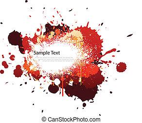 colorare, schizzo, tono, rosso