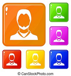 colorare, set, utente, icone