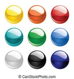 colorare, sfere, vettore