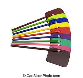 colorare, solido, campioni, vernice