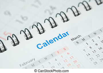 colorare, su, viola, calendario, chiudere, tavola