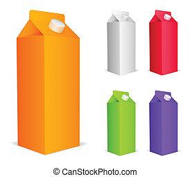 colorare, succo, packs.
