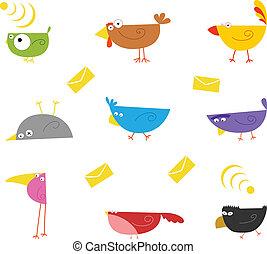 colorare, uccelli
