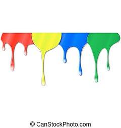 colorare, vernice, gocciolamenti