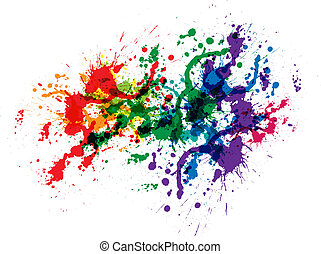 colorare, vernice, schizzi