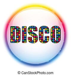 colorare, vetro, cerchio, palla, discoteca
