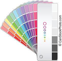 colorare, vettore, ventilatore, illustrazione