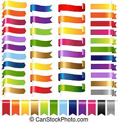colorare, web, set, nastri