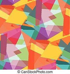 colorato, astratto, seamless, illustrazione, vettore, fondo, poligoni